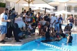 Walaa Hafez podczas nurkowania