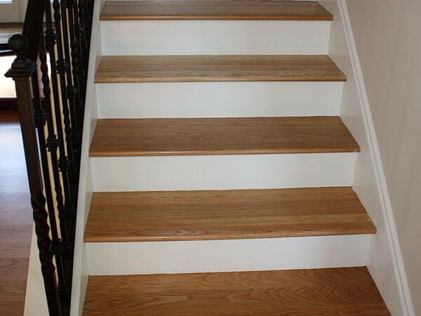 Hardwood Floor Stair Inlays San Mateo Ca Wood Stair | Wood Floors And Stairs | Beautiful | Wood Plank | Oak | House | Wood Flooring