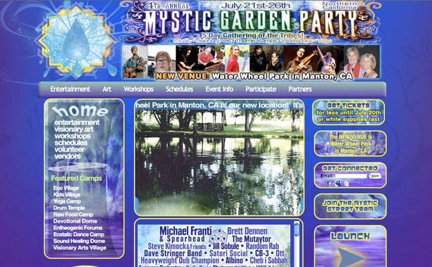 Music Festival Web Page Design