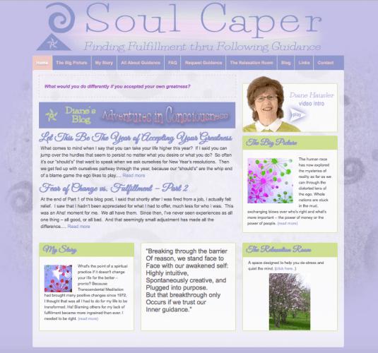 Website for Spiritual Author