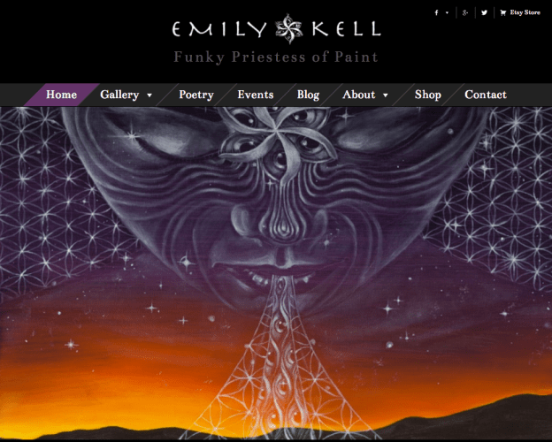 Visionary Artist Website