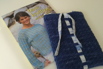 Knitting book and McDaisy tablet sleeve