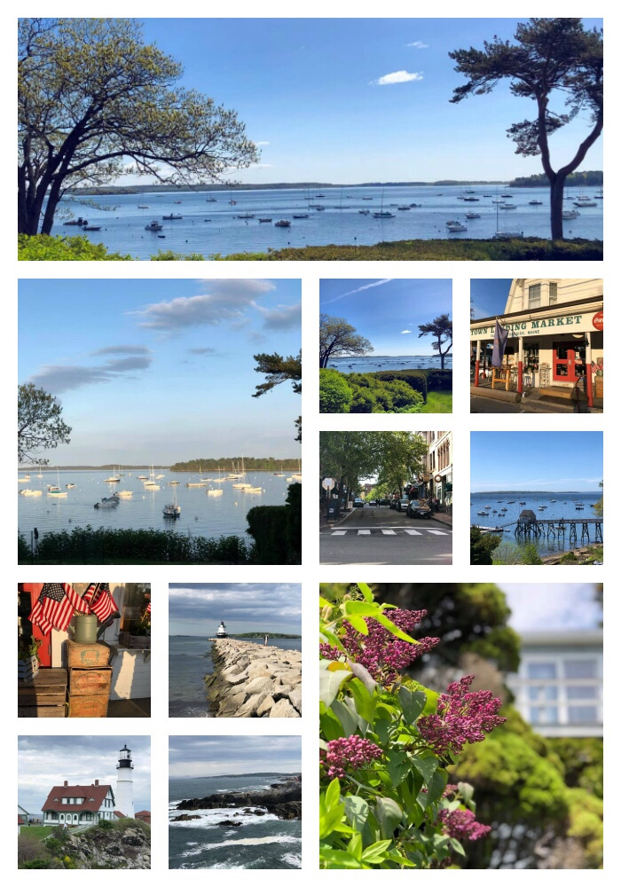 Collage of photos of the Maine Coast