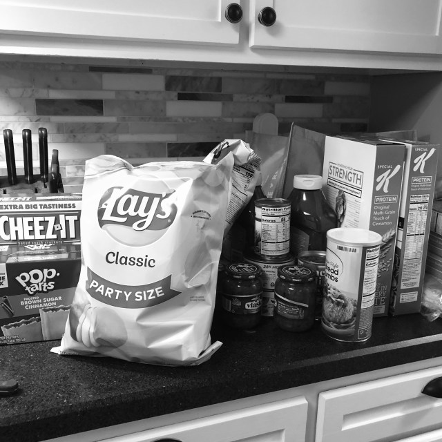 Social Distancing day 12 snacks and pantry items