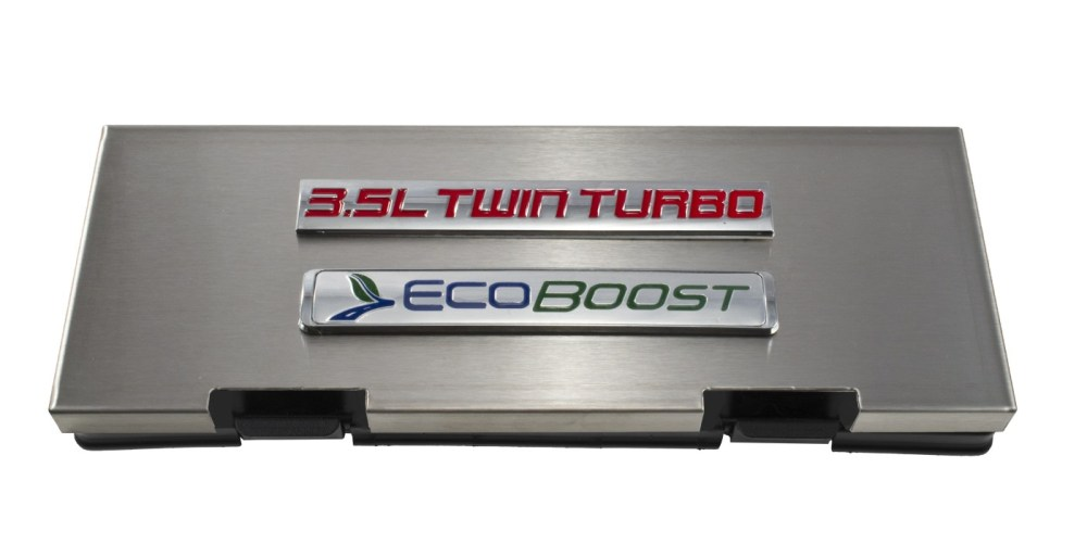 medium resolution of 2010 2014 ford f150 brushed engine fuse box cover 3 5 twin turbo ecoboost emblem f150 ford truck