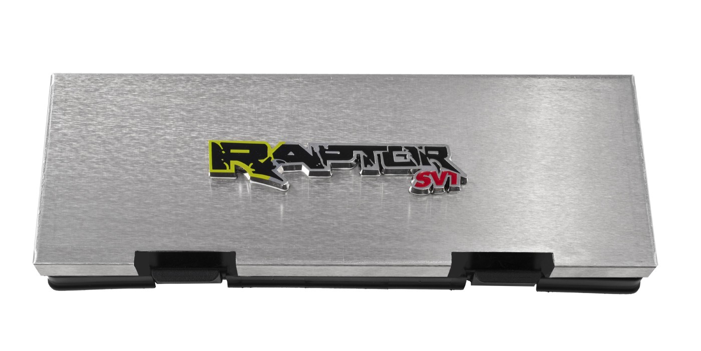 hight resolution of 2010 2014 ford f150 raptor svt brushed engine fuse box cover w emblem badge