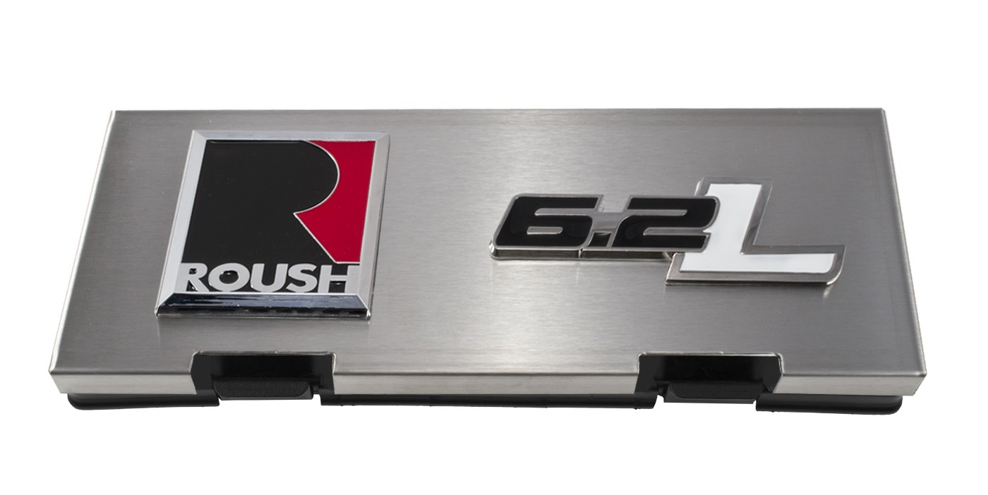 hight resolution of 2010 2014 ford f150 raptor brushed engine fuse box cover w roush 6 2l emblems