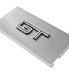 2005 2009 ford mustang brushed satin stainless engine fuse box cover w gt emblem engine compartment 2005 2009 mustang [ 1400 x 1111 Pixel ]