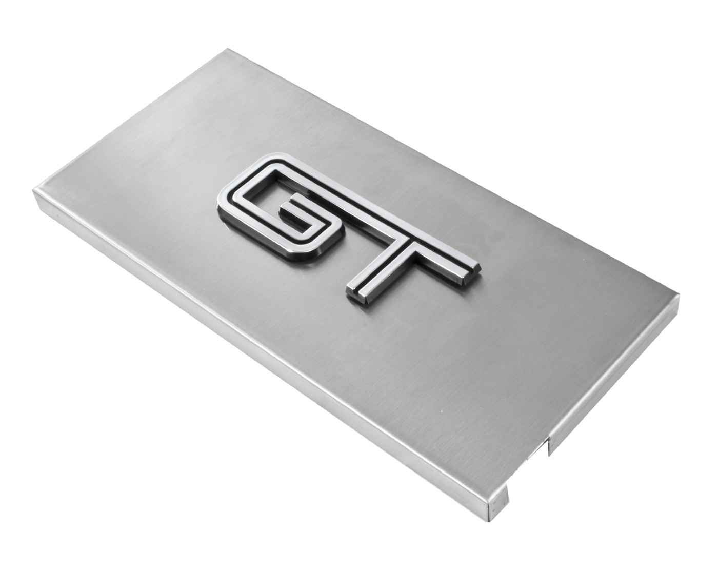 hight resolution of 2005 2009 ford mustang brushed satin stainless engine fuse box cover w gt emblem engine compartment 2005 2009 mustang