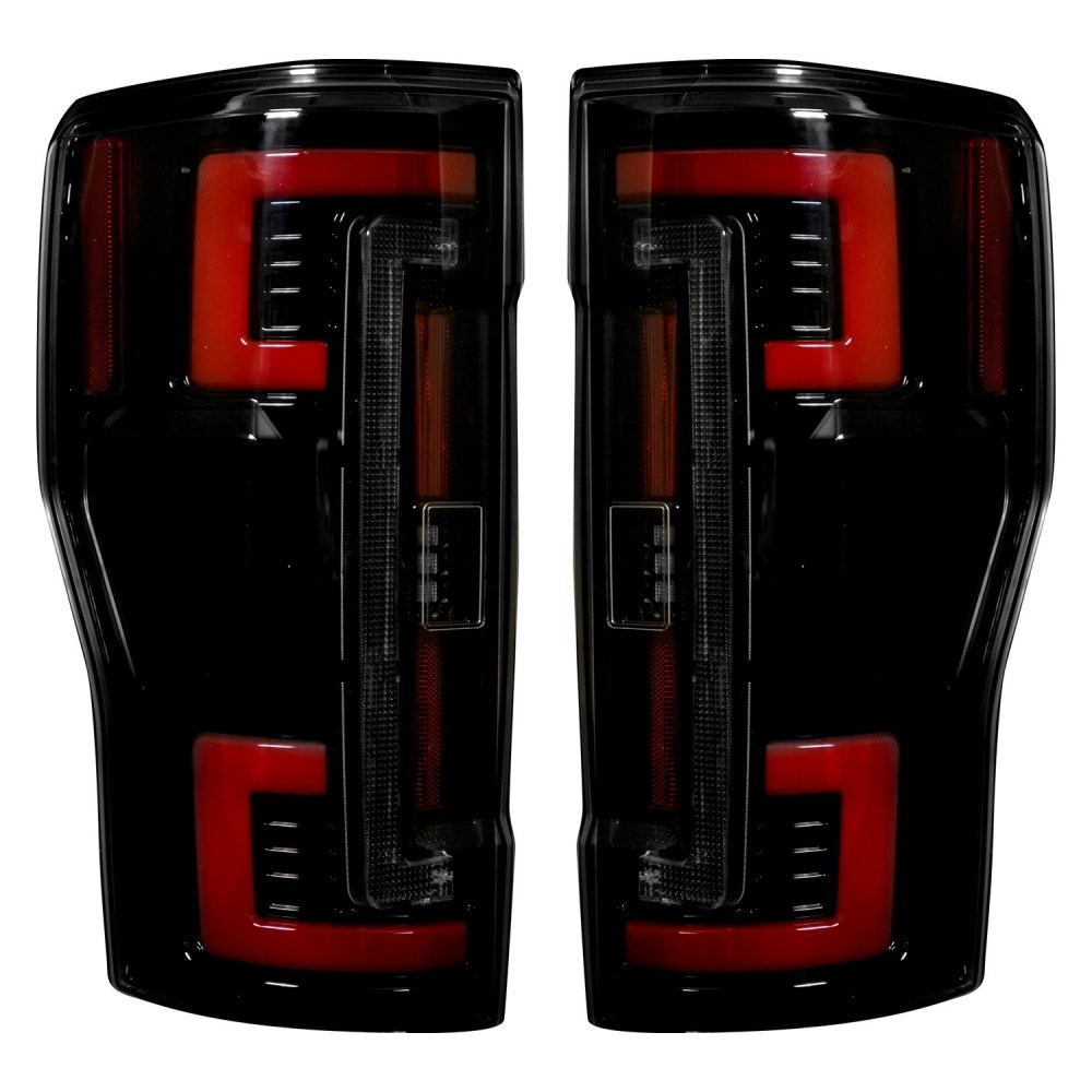 medium resolution of 2017 2018 ford f250 350 450 superduty truck recon 264299bk smoked oled rear tail lights pair lighting ford truck