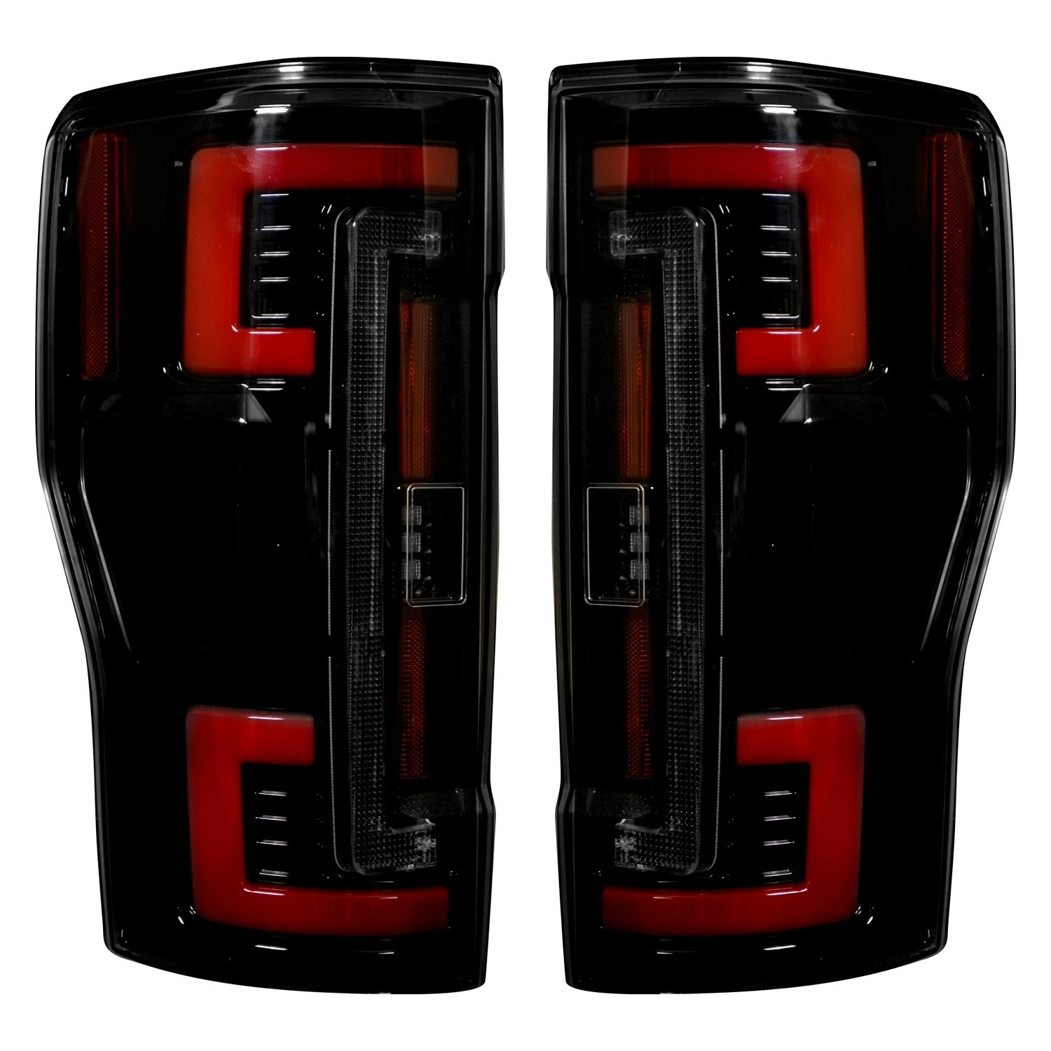 hight resolution of 2017 2018 ford f250 350 450 superduty truck recon 264299bk smoked oled rear tail lights pair lighting ford truck