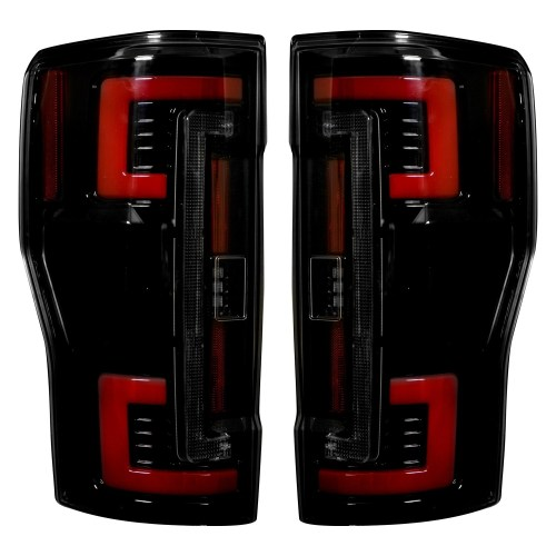 small resolution of 2017 2018 ford f250 350 450 superduty truck recon 264299bk smoked oled rear tail lights pair lighting ford truck