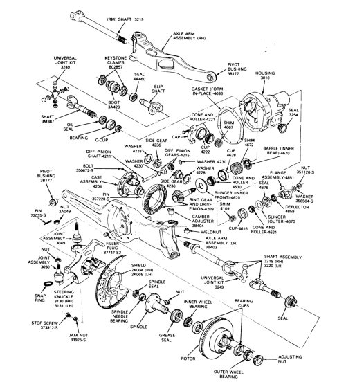 Dana 44 Rear Axle Diagram - front engine rear wheel drive