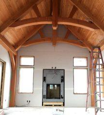 Douglas Fir Timber Frame Lake Cabin In Minnesota