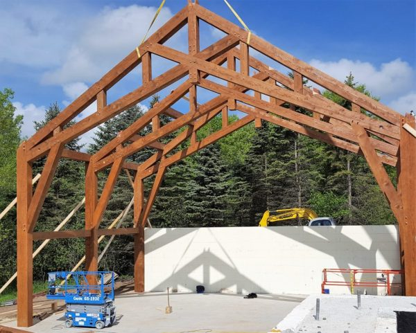 St. Croix River Valley Timber Frame Home - Blue Ox