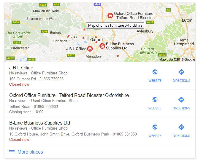 Google My Business Search Result
