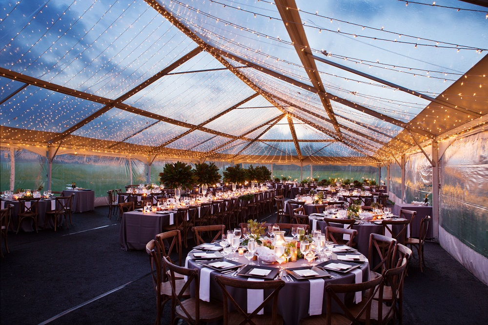chair rentals for wedding office edmonton clear-top tents – blue peak tents, inc.