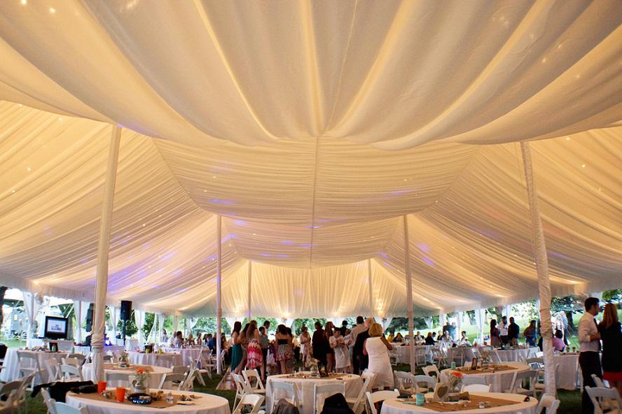Fabric Ceiling Liners  Blue Peak Tents Inc