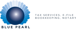 Blue Pearl Bookkeeping and tax accounting services in el paso texas logo