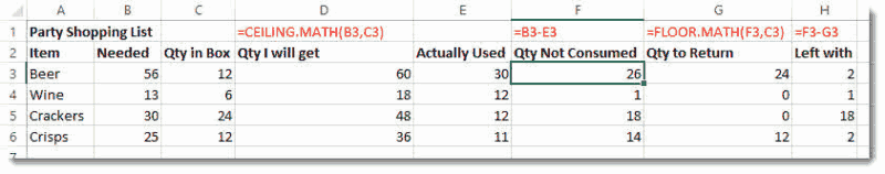 Rounding numbers removing decimals in excel blue pecan for Floor mathematics