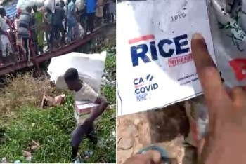 VIDEO: Angry youths discover another Lagos warehouse, cart away more palliatives