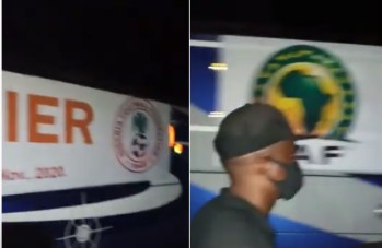 VIDEO: Watch how angry fans booed, blocked Super Eagles after disappointing AFCON qualifier in Benin City
