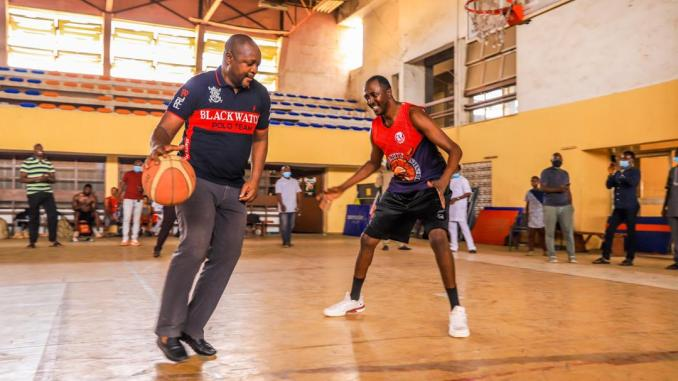 Sports Minister inspects Liberty stadium, wows fans with basketball display