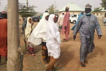 VIDEO: Watch the moment kidnapped Jangede school girls arrived Gusau
