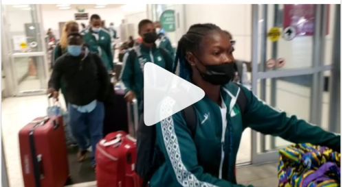 VIDEO: Team Nigeria arrive US ahead Olympic Relay qualifier