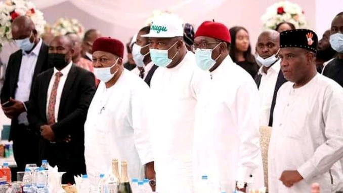Pictures: PDP governors meet in Uyo over National issues