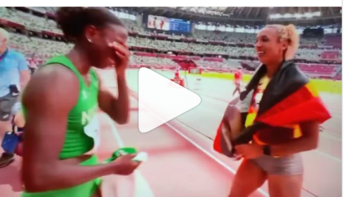 VIDEO: Celebration for Team Nigeria as Ese Brume jumps to victorious bronze medal in 2020 Olympics long jump event