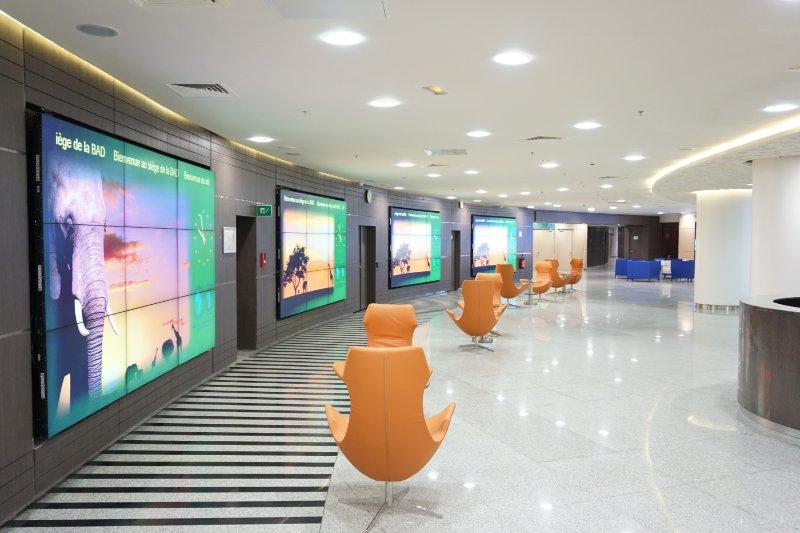 african development bank, office, reception, interiors