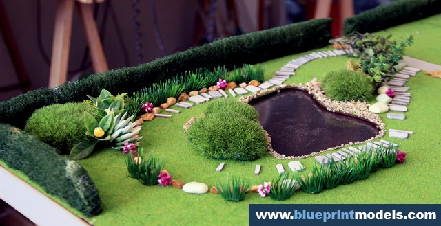 Scale Model House And Garden Planning Architectural
