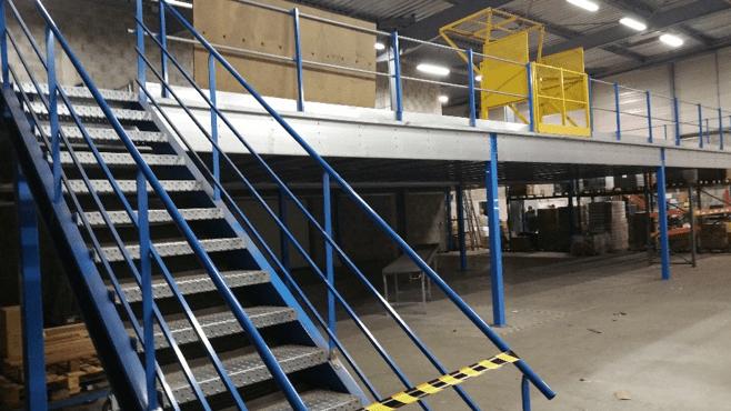 mezzanine industrielle et plateforme de