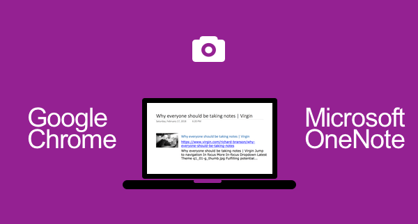 How To Use Google Chrome and Microsoft OneNote Together