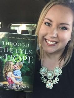 Bethany Jett holding eyes of hope
