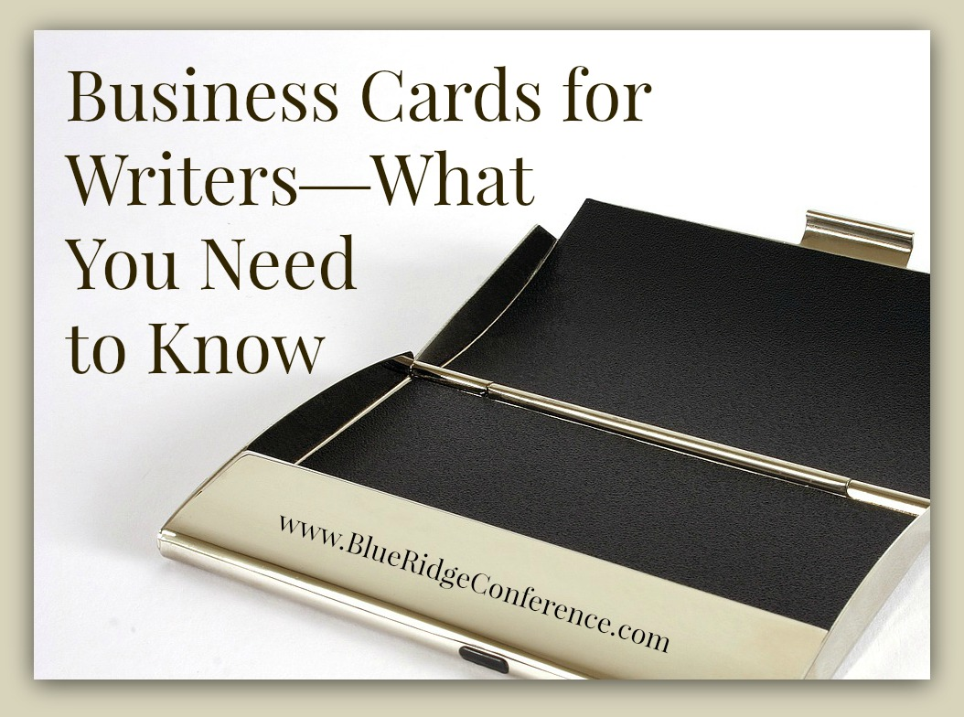 Business Cards for Writers - Blue Ridge Mountains Christian Writers ...
