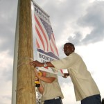 Bicentennial signs go up in county