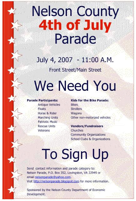 Parade Flyer