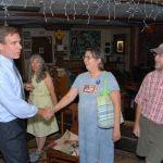 U.S. Senate Candidate Mark Warner Visits Nelson