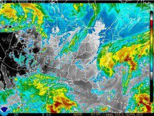 Infrared Sat View Of The Eastern U.S. Via Noaa