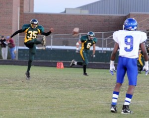 #35 Quincy Murphy Punts At Friday Night's Game In Lovingston, Virginia