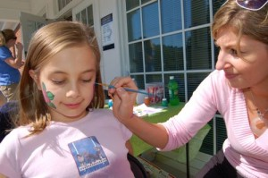 Kids enjoyed face painting during Saturday's fun event!