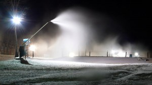 Photography By Paul Purpura : Cold temperatures at Wintergreen have allowed snow making to now start on the Dobie Slope.