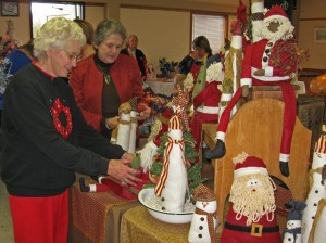 Plenty of arts and crafts awaited folks coming through the Christmas Arts and Crafts Show.