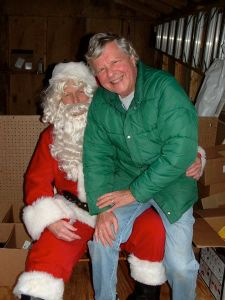 Nelson Food Pantry Director, Dick Nees, even got the chance to visit with Santa!