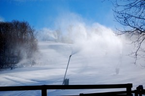 Snow guns at Wintergreen Resort put down a near perfect base on Eagle's Swoop.