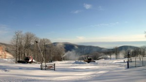 Wintergreen Resort already had a very good base of man made snow, but Monday night's snowfall added to it!