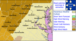 The High Wind Watches & Warnings as of early Wednesday morning via the NWS.