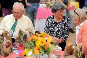 Plenty of food was on hand along with beautiful floral arrangements from local greenhouses.